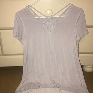 soft tee with cross front